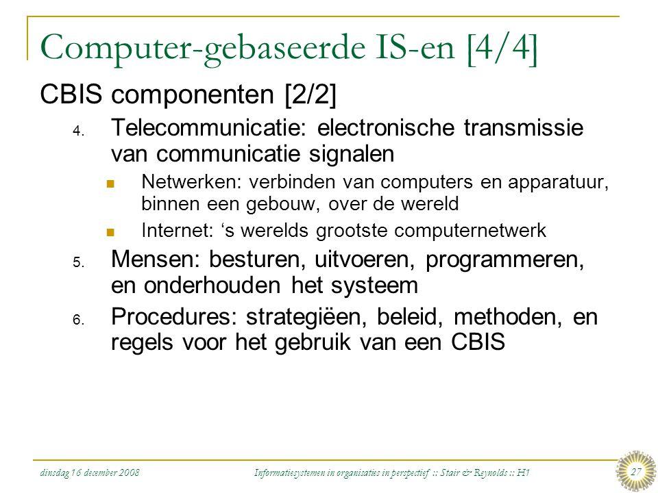 Computer-gebaseerde IS-en [4/4]